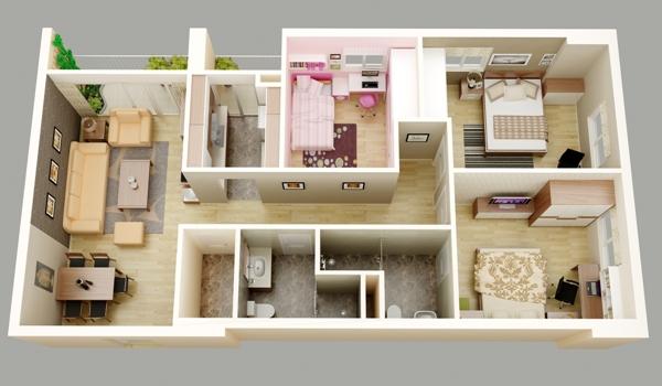 Bán căn hộ 97.65m2 hướng đông nam chung cư D2CT2 tây nam linh đàm