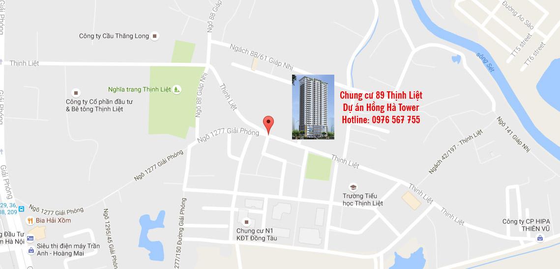 Vị trí chung cư 89 Thịnh Liệt