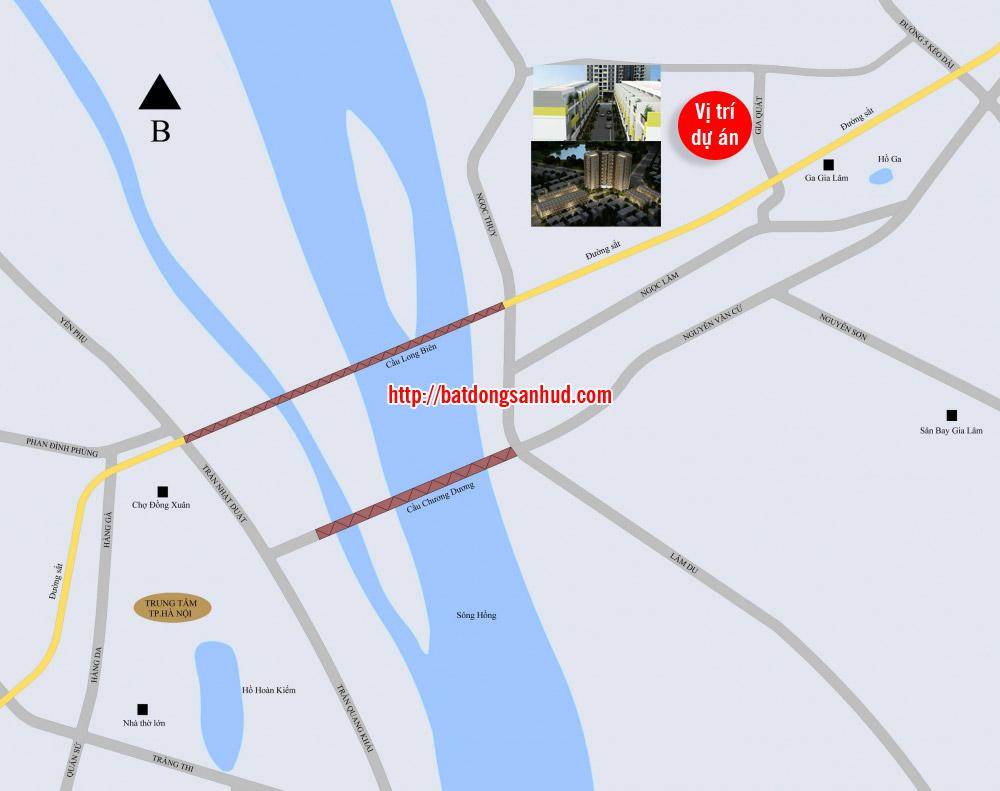 vị trí Rice City Sông Hồng tại Gia Quất Thượng Thanh Long Biên