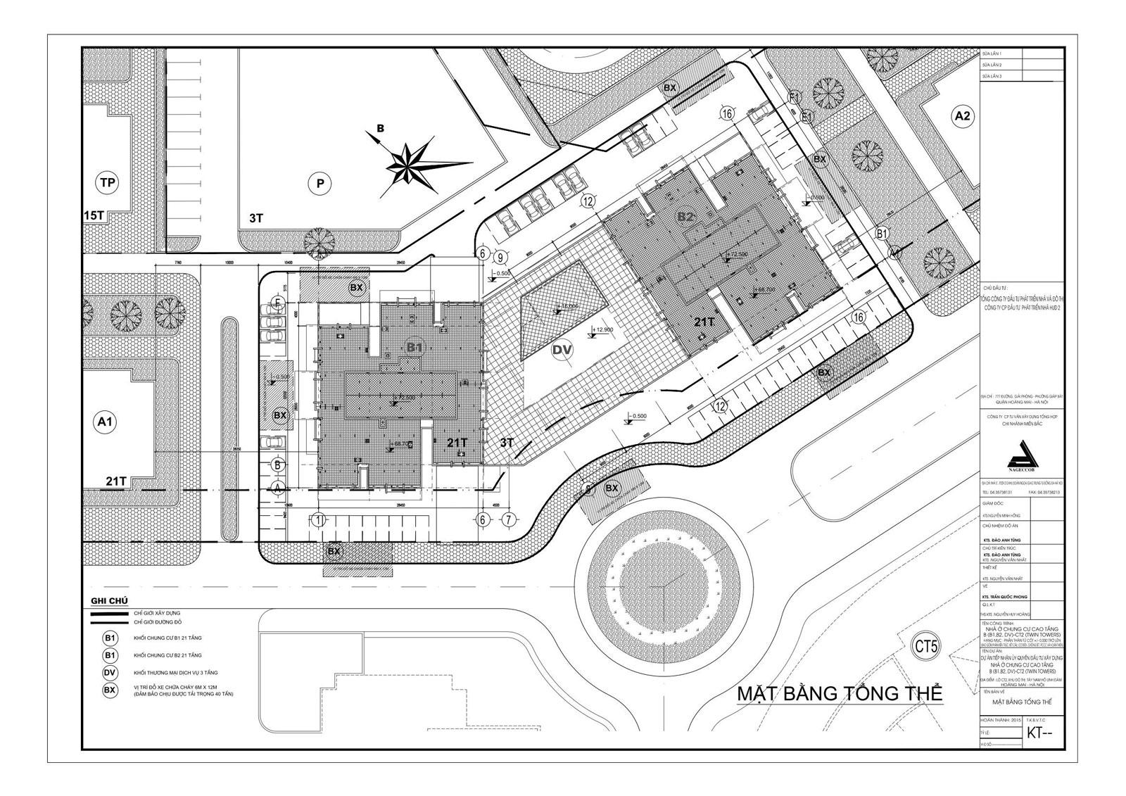 Hồ sơ mặt bằng khu thương mại tòa b1b2 tây nam linh đàm