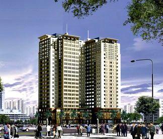 Mặt bằng căn hộ chung cư Udic Riverside 122 Vĩnh Tuy