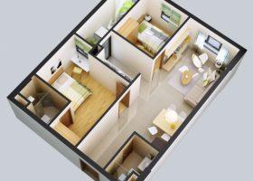 Bán căn số 11 diện tích 68.3 m2 chung cư Rainbow Linh Đàm