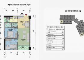 Căn hộ 59.1 m2 Loại B chung cư CT3 tây nam linh đàm