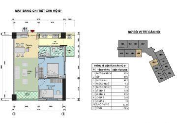 Bán căn hộ 63.2m2 chung cư CT3 Tây Nam Linh đàm