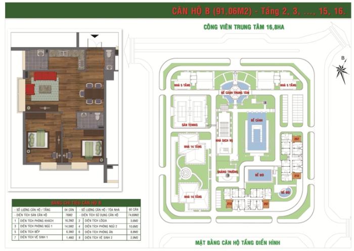 Căn Hộ Loại B Green House Việt Hưng Long Biên