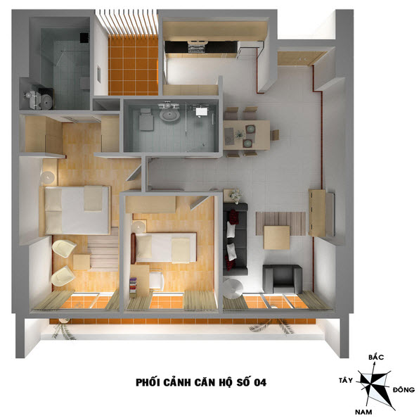 Căn Hộ 2 Phòng ngủ VP4 Bán Đảo Linh đàm