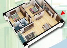 Phân phối chung cư D2CT2 tây nam linh đàm – căn hộ 97,65m2