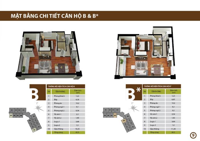 căn hộ B Chung cư CT3 Tây Nam Linh Đàm