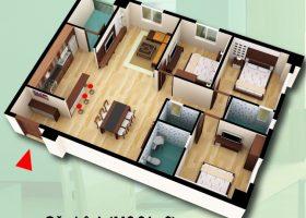 chuyển nhượng căn hộ diện tích 119,04m2 chung cư D2CT2 Tây Nam Linh Đàm
