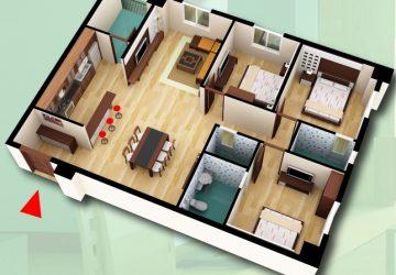 Chính chủ bán căn hộ DT 119,04m2 chung cư D2CT2 tây nam linh đàm