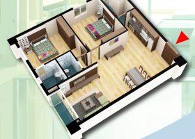 Mở bán căn hộ 3 phòng ngủ chung cư D2CT2 tây nam linh đàm