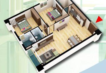 Bán căn hộ tầng 12 chung cư D2CT2 tây nam hồ linh đàm