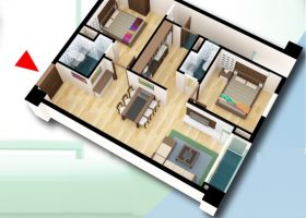 Bán chung cư D2CT2 tây nam linh đàm căn hộ diện tích 85,5m2