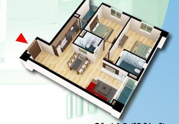 Bán Căn hộ 87,06 m2 tầng 10 chung cư D2CT2 Tây Nam linh đàm