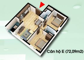 Mở bán căn hộ 72,09m2 giá rẻ chung cư D2CT2 tây nam hồ linh đàm