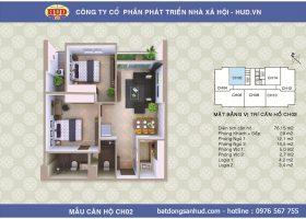 Bán căn hộ diện tích 76m2 chung cư A1CT2 tây nam linh đàm