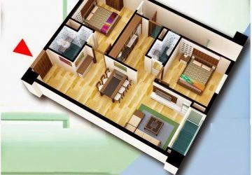 Căn hộ C 85 m2 dự án chung cư D2CT2 Tây Nam Hồ Linh Đàm