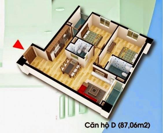 Căn hộ D 87,06 m2