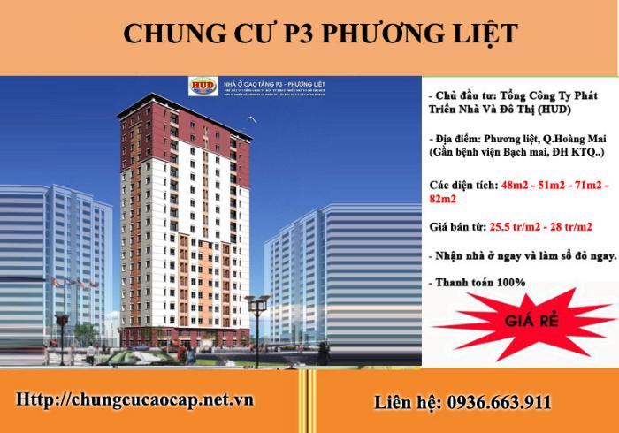 Tổng quan căn hộ chung cư P3 Phương Liệt