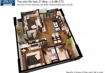 Bán căn hộ chung cư B1b2 CT2 Tây nam Linh Đàm