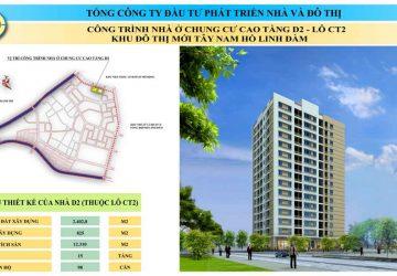 Chung cư D2CT2 Tây nam Linh Đàm – bán căn hộ tầng 9 DT 87,06m2