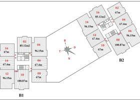 Phân phối độc quyền chung cư B1B2 CT2 Tây nam linh đàm