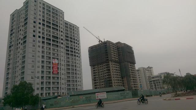 Ảnh chụp thực tế tháng 4/2016 - chung cư A14 Nam Trung Yên