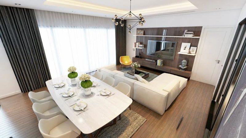 Căn hộ 2 phòng ngủ chung cư Hud3 Nguyễn Đức Cảnh