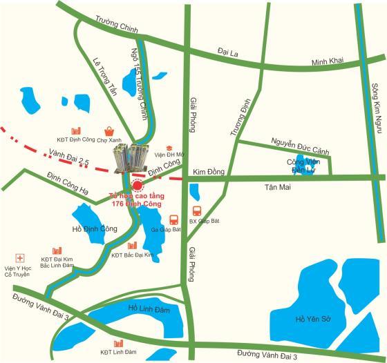 Mặt bằng Chung cư Green Life Complex 176 Định Công Tháp A