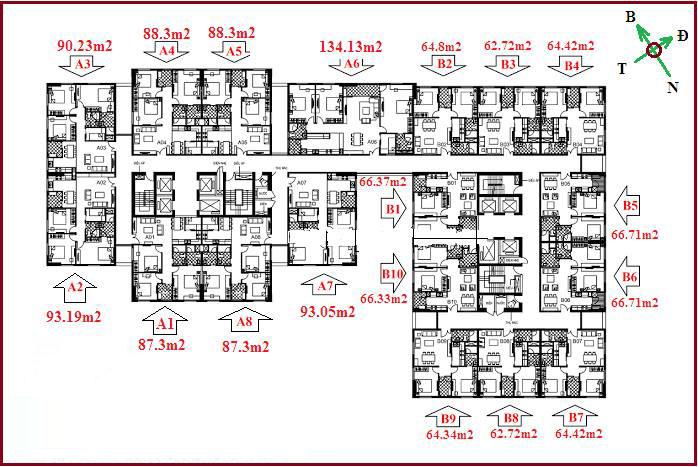 Mặt bằng thiết kế chung cư 122 vĩnh tuy