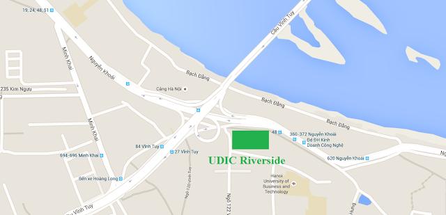 Vị trí chung cư 122 vĩnh tuy UDIC RIVERSIDE