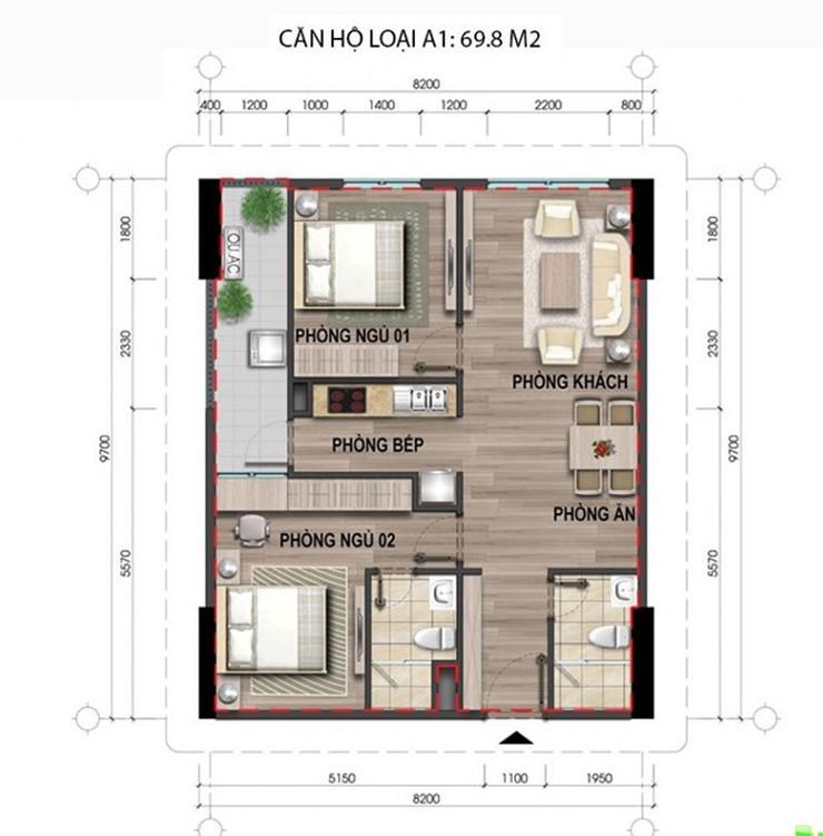 Căn hộ chung cư 43 Phạm Văn Đồng