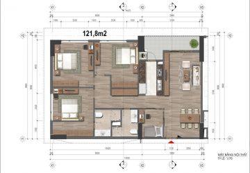 Căn hộ loại 121.8m2, E Pic Home Phạm Văn Đồng