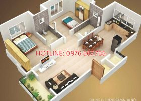 Căn 2 phòng ngủ Chung cư Panorama Hoàng Mai