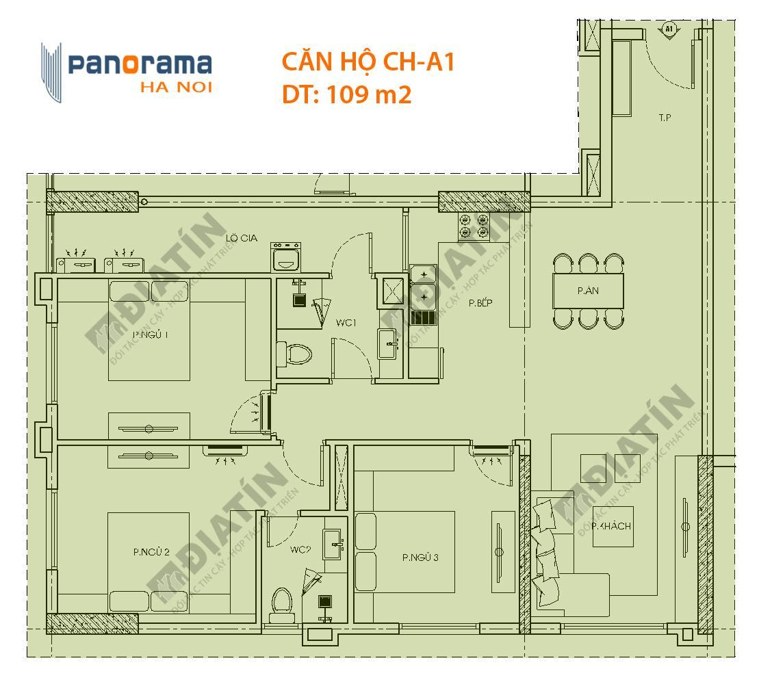Bán căn Hộ CT1A Tòa Panorama Giá rẽ