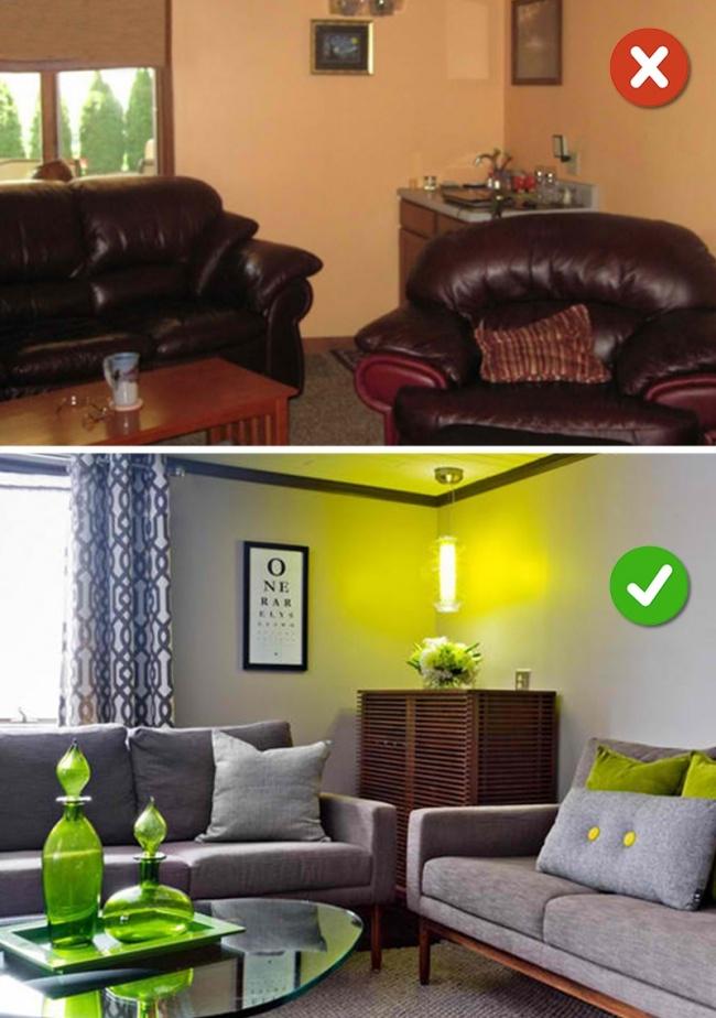 Tạo điểm nhấn cho thiết kế phòng khách bằng họa tiết, màu sắc