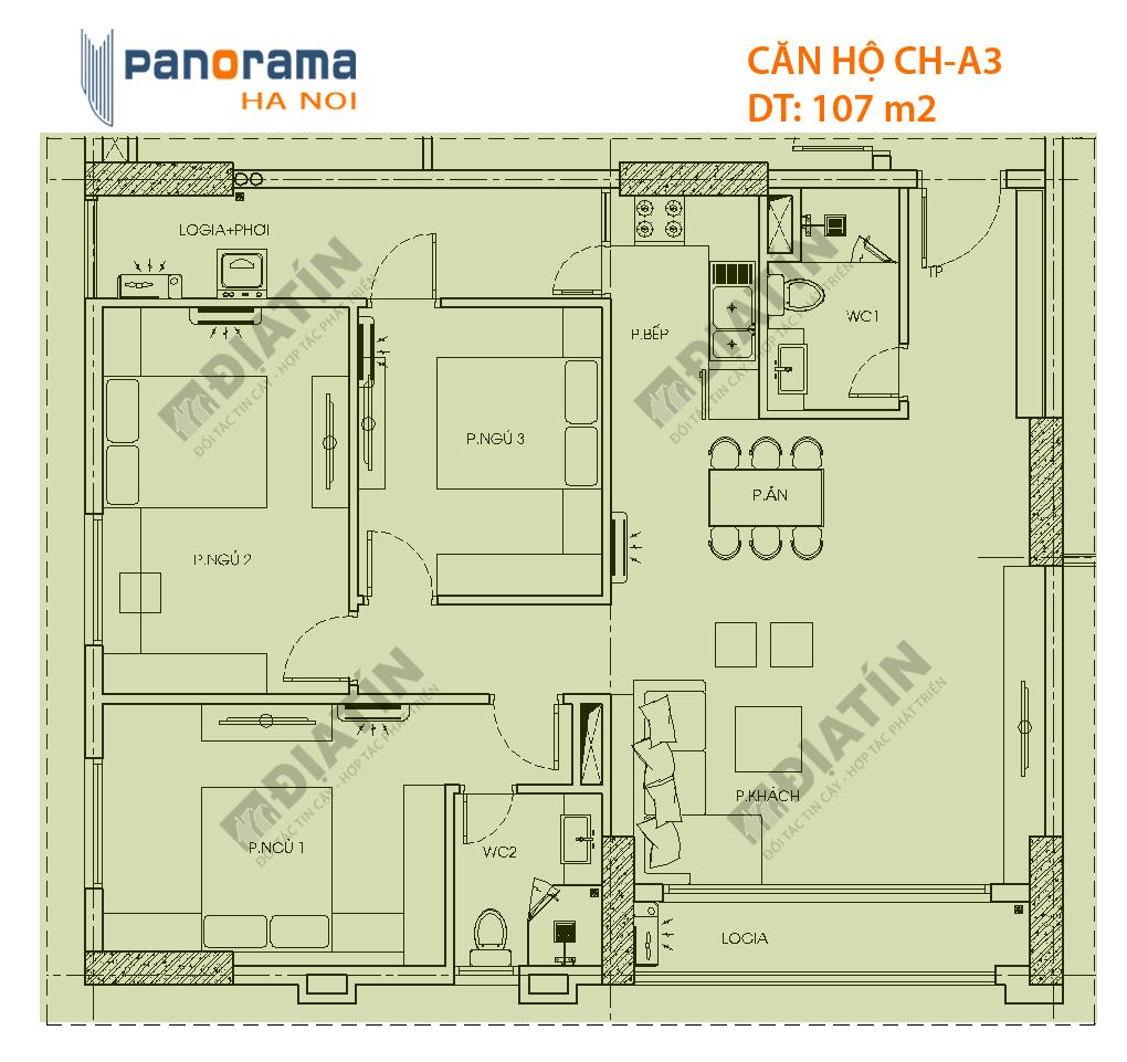 Bán Căn Hộ CT1B Panorama Hoàng Văn Thụ