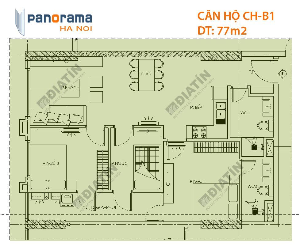 Bán căn hộ Tòa CT2 Chung cư Panorama Hoàng Mai