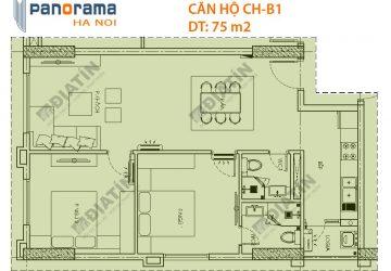 Căn 2 Ngủ 75m2 Tòa CT1A Chung Cư Panorama