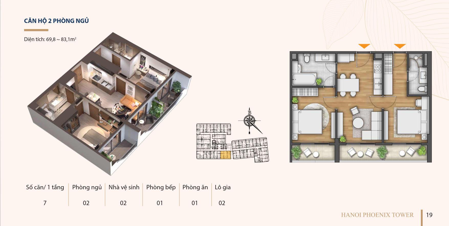 Căn hộ 2 phòng ngủ chung cư phố Kim Đồng Cao Bằng