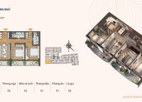 Căn hộ chung cư 3 phòng ngủ phố Kim Đồng thành phố Cao Bằng