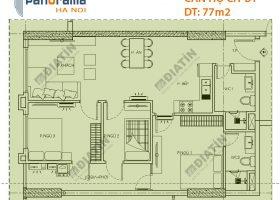 Bán căn 3 ngủ 77m2 tòa CT2 Panorama Hoàng Văn Thụ
