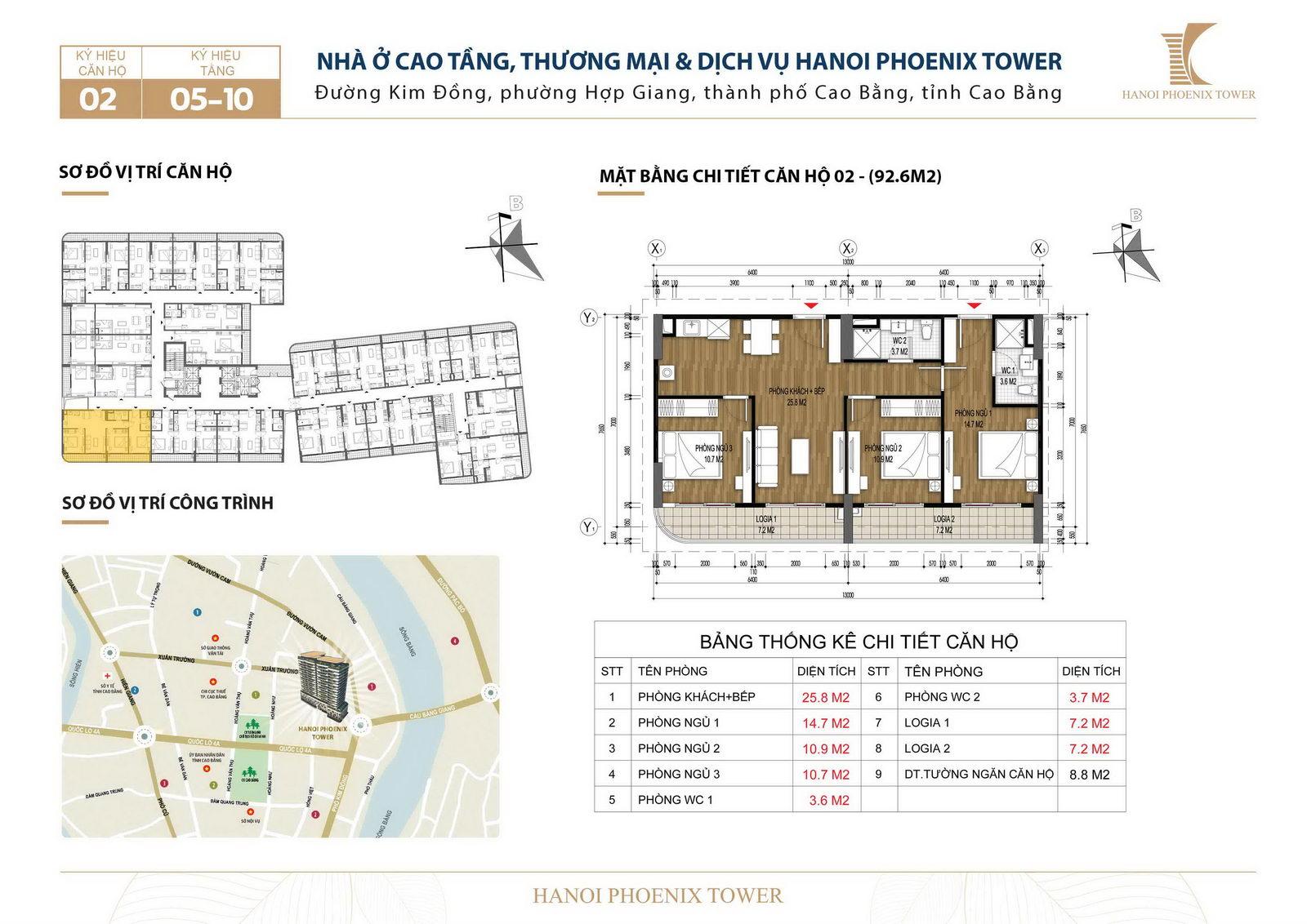 Bán căn 92.6 m2 chung cư đường Kim Đồng, TP Cao Bằng