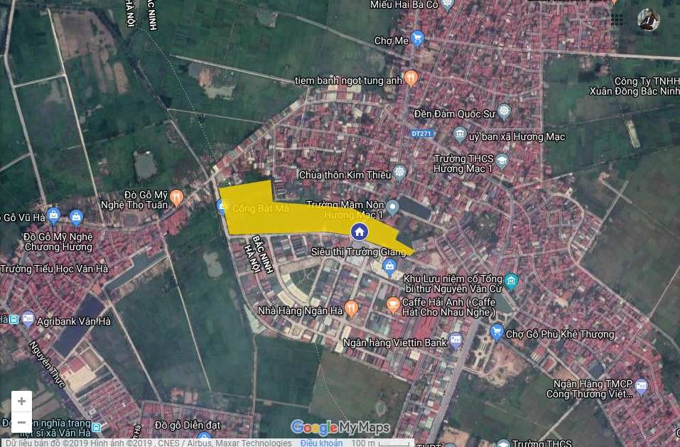 Vị trí Dự án khu đô thị Bảo Long New City