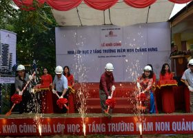 BIC Việt Nam tài trợ xây dựng Điểm trường Mầm non Quảng Hưng (Quảng Hòa)