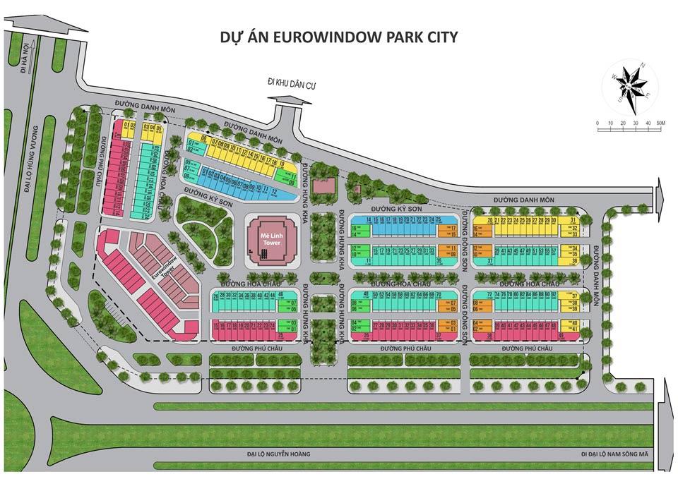 Sơ đồ dự án eurowindow garden city