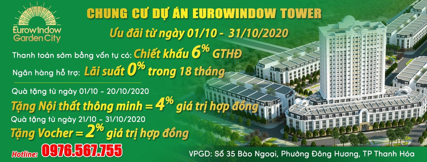 Chính sách bán hàng chung cư dự án eurowindow tower tháng 10/2020
