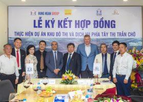 Hưng Ngân Group ký HĐ thực hiện dự án KĐT & DV phía Tây TT Chờ