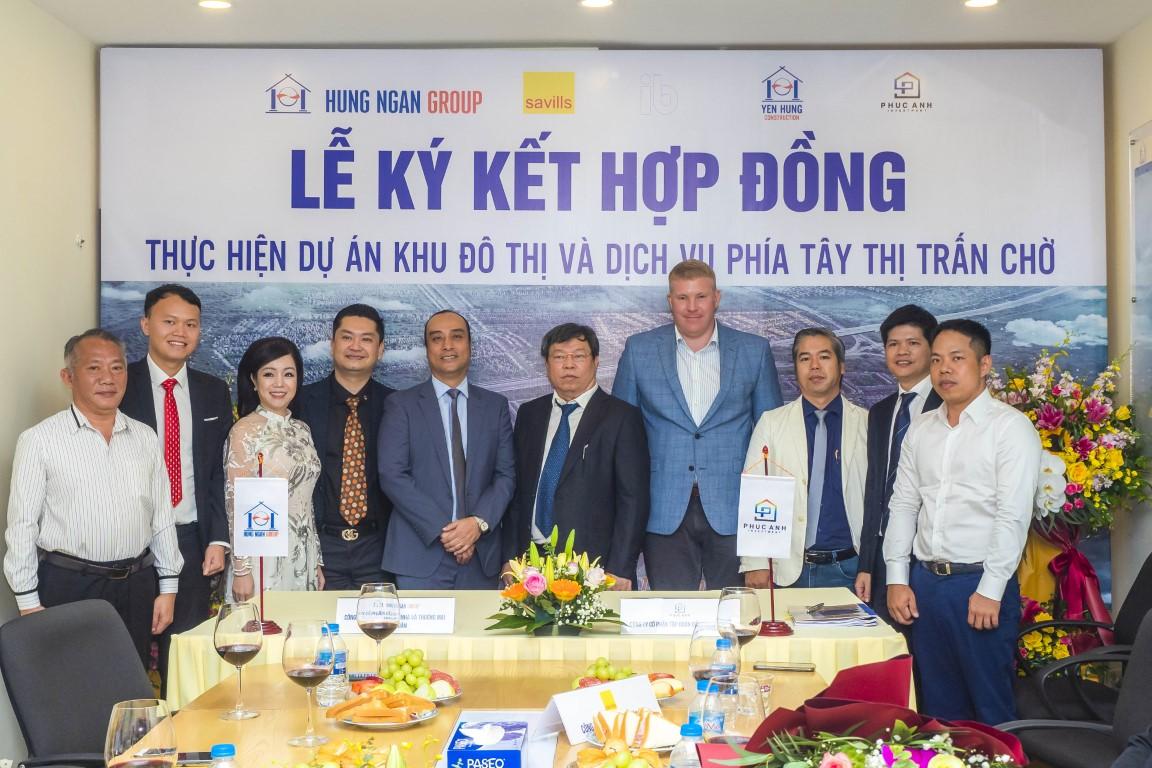 Hưng Ngân Group ký kết hợp đồng thực hiện dự án KĐT & DV phía Tây TT Chờ