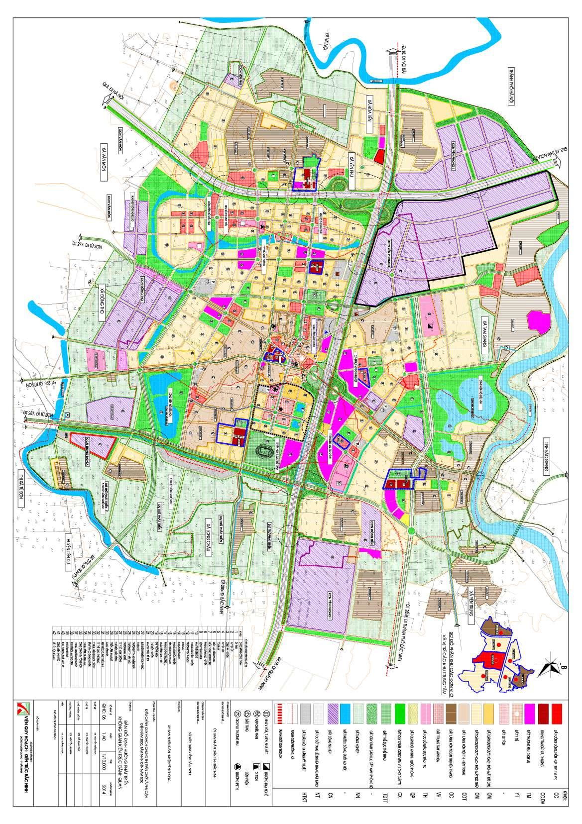Bản đồ không gian thị trấn chờ
